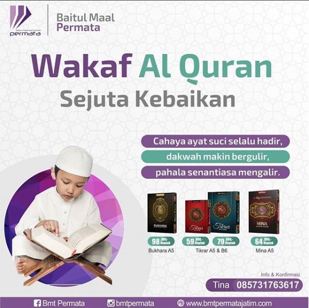Wakaf Al Quran Sejuta Kebaikan